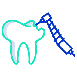 dental fillings or cavity fillings icon