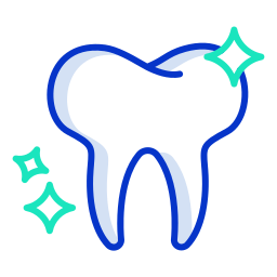 dental tooth cleaning icon