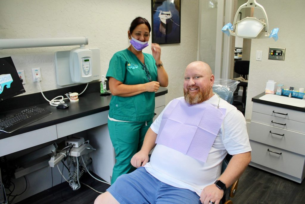 boynton beach teeth cleaning in process