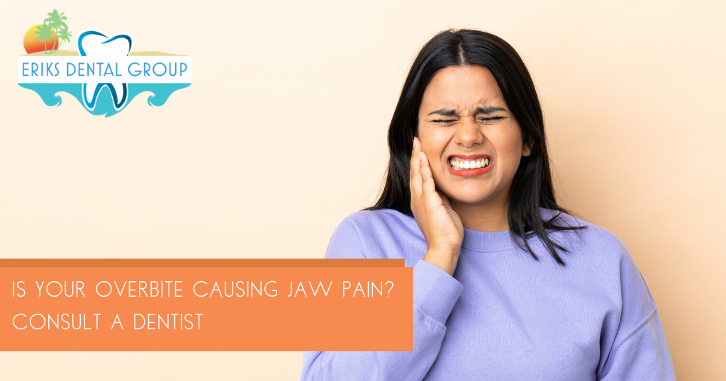 consulting a dentist about jaw pain